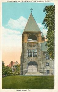 Washington & Jefferson College Pennsylvania~Gymnasium~Belfry Tower~1920s