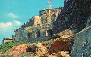 Vintage Postcard 1979 Shoreline Trail El Morro San Juan Puerto Rico