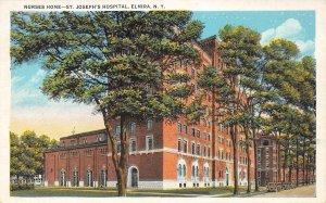 Nurses Home, St. Joseph's Hospital, Elmira, New York 1932 Vintage Postcard