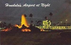 Hawaii Honolulu Honolulus New Airport At Night