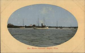 Falmouth Heights Cape Cod MA New Harbor c1910 Postcard