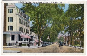 Norway, Me, Beal's Tavern And Main Street