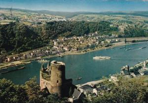 Germany St Goar und Burg Katz am Rhein