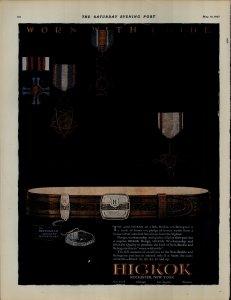 1927 Hickok Belt Buckle Beltogram Vintage Print Ad 3888