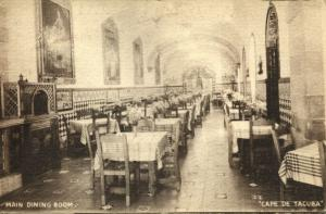 mexico, MEXICO D.F., Cafe de Tacuba, Main Dining Room (1940s) Postcard