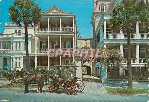 Postcard Modern Homes South Battery Charleston South Carolina