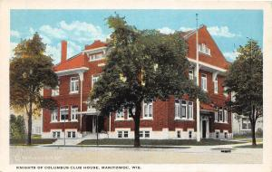 B67/ Manitowoc Wisconsin Wi Postcard c1910 Knights of Columbus Club House