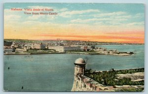 Postcard Cuba Havana Panoramic View of City From Morro Castle c1920s X3
