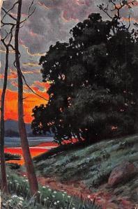 Sunset Painting, Seasons Illustrated, Series No. 5415