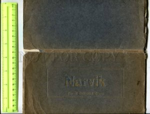 400446 NORWAY NARVIK Vintage set of 10 postcards in booklet