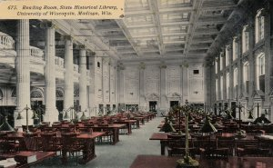 MADISON , Wisconsin ,1911 ; Reading Room, Historical Library, U of Wis.
