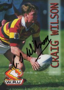 Craig Wilson Waikato Rugby New Zealand Hand Signed Card Photo