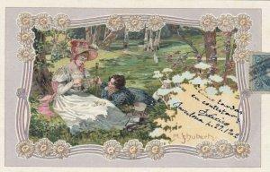 Art Nouveau Couple ; Artist SCHUBERT , PU-1902 ; #1