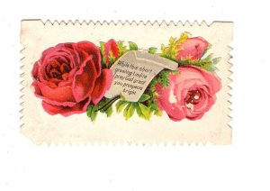 Victorian Era Calling, Visiting Card, Roses, Name Maggie A Gesner