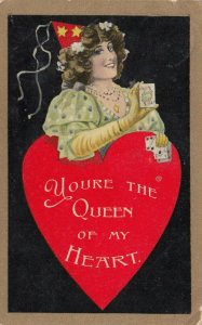 You're the Queen of my Heart, Woman  with playing cards, 1900-10s