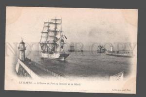 082694 LIGHTHOUSE Havre L'Entree du Port au Moment de la Maree