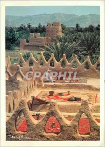 Postcard Modern Kingdom of Saudi Arabia Upper terface day of a Traditional Ho...