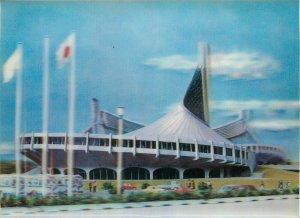 Lenticular stereo 3D novelty postcard Japan Tokyo Olympics 1964 Yoyogi Gymnasium