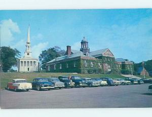 Unused Pre-1980 LINE OF OLD CARS AT MUNICIPAL BUILDING Ellsworth Maine ME A6764