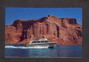 AZ Wahweap Lodge Marina Boats Page Arizona Postcard Lake Powell Glen Canyon Dam