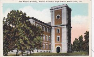 Indiana Indianapolis Old Arsenal Building Arsenal Technical High School