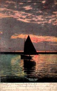 Michigan A Petoskey Michigan Sunset 1916