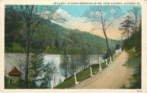 Altoona Pennsylvania~Spillway~Reservoir on William Penn Highway~Round Tower~1920