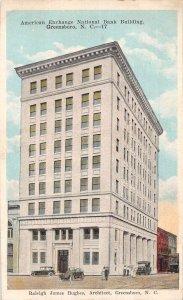 Greensboro North Carolina American Exchange National Bank Postcard AA26722
