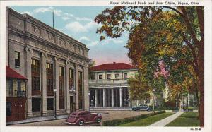 Ohio Piqua National Bank and Post Office 1951 Curteich