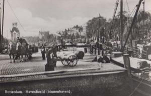 Rotterdam Military Cannon Canon Havenbeeld Dutch Real Photo Holland Postcard