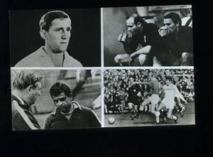 166372 USSR national football team 1960s postcard