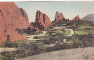 Colorado Colorado Spring Cathedral Spires In Garden Of The Gods Albertype