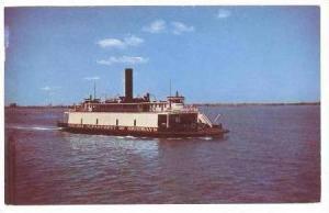 Virginia Department Of Highways Ferry On Water, Norfolk-Newport, Virginia, 1951