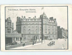 c1910 VICTORIA STATION HOTEL Nottingham In Midlands Region England UK F6686