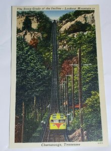 Vintage Postcard Cable Car Train Lookout Mountain Chattanooga Tennessee   900