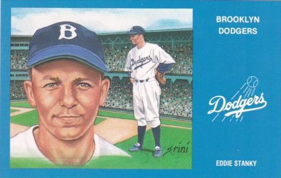 Baseball Brooklyn Dodgers Eddie Stanky Hippostcard