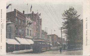B77608  barrington street halifax  tramway  canada scan front/back image