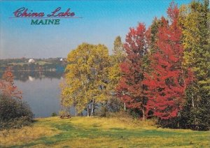 Autumn Colors Add To The Beauty Of This Picturesque Setting On China Lake Maine