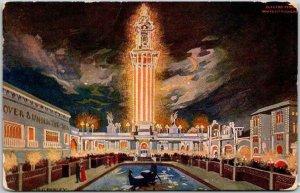 1910s Chicago, Illinois Postcard WHITE CITY AMUSEMENT PARK Electric Tower