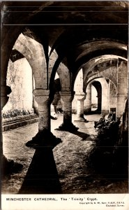 Hampshire WINCHESTER Cathedral The Lady Chapel Crypt Old RPPC Postcard