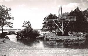 C42/ Hickory Corners Michigan Mi RPPC Postcard 1958 Gull Lake Kellogg Windmill