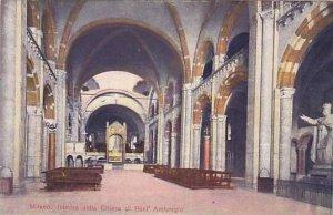 Italy Milano Interno della Chiesa di Sant' Ambrogio