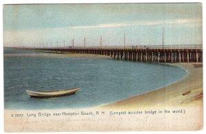 Long Bridge near Hampton Beach, N.H. - Rotograph