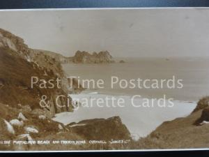 Cornwall: Porthcurno Beach and Treryn Dinas RP c1928 - Pub by Judges