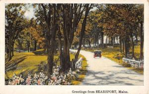Searsport Maine Scenic Roadway Greeting Antique Postcard K93202