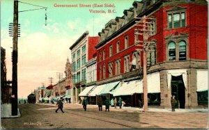Victoria BC Canada Government Street Postcard unused 1900s/10s