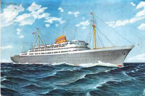 Norwegian Amewrican Line - M/S Oslofjord - 1959 Card