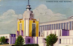 IL - Chicago. 1933 World's Fair-Century of Progress. Illinois State Host Buil...