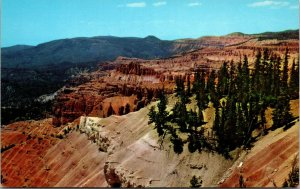 Cedar Breaks National Monument Union Pacific Cedar City Ut Vintage Postcard Utah