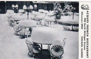 Illinois Chicago Jacques French Restaurant Winter Dining Room